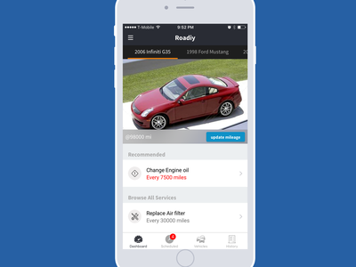 Roadiy iOS App Design and Development automotive design iphone app design ios development ios design