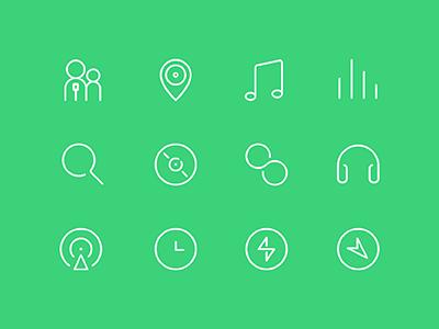 qq music icon set icon music ui ios ios7 ios8