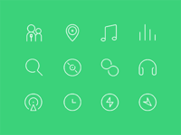 qq music icon set