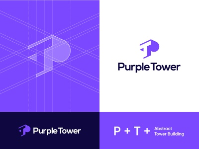 Purple Tower unused lettermark logo art tower purple branding vector logomark minimal contemporary instagram logodesign abdullah designs