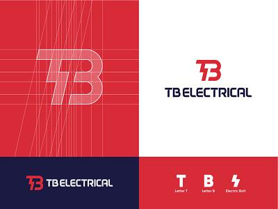 TB Electrical minimalist logo branding typography logomark dribbble logotype tb minimal contemporary instagram logodesign abdullah designs