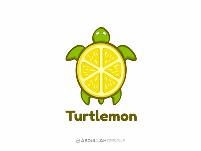 Turtlemon - Logo for Sale logoforsale mascot logo character logo typography dribbble minimal logotype illustration branding contemporary instagram logodesign abdullah designs