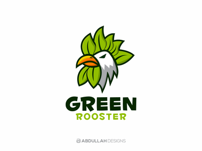 Green Rooster - Logo for Sale rooster logo character logo drawing logoforsale mascot logo dribbble vector typography logo design contemporary illustration logotype branding logodesign instagram abdullah designs