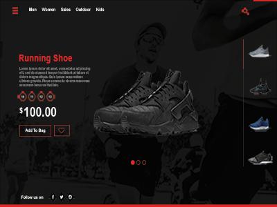 Shoe Landing Page