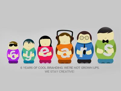 BroHouse 6th Anniversary brohouse matrioska 6 years branding creative illustration
