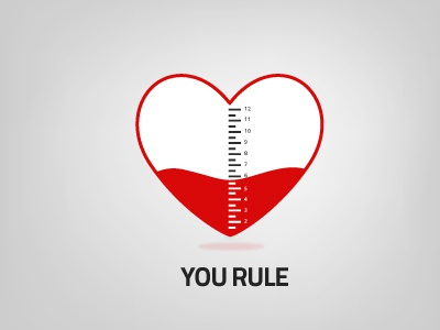 Happy Valentine's day! valentine heart rule ruler brohouse love
