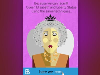 Queen Elisabeth - Website Launch Campaign brohouse.com queen elisabeth illustration here we .com launch website