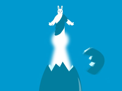 Who was first: the egg or the bunny? brohouse easter egg bunny jesus religion