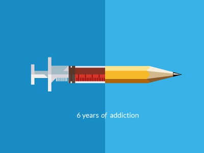6 Years Of Addiction pencil syringe addition creativity 6 years brohouse