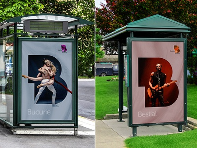 Bucharest | City Identity and Outdoor Campaign bus stop window outdoor brohouse b romania city bucuresti bucharest