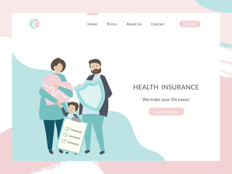Health Insurance Web By Nora Dribbble Dribbble