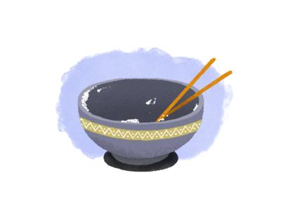 Japanese dinner bowl