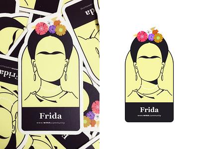Frida Kahlo frida kahlo fridakahlo stickermule stickers illustration