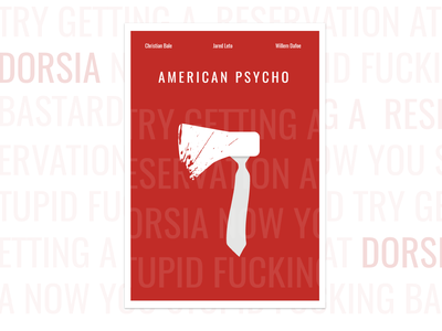 American psycho - Poster american psycho poster art poster posters