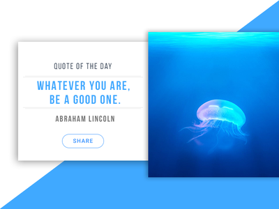 Share -Day 10 sea blue ux ui design share quote flat day010 dailyui
