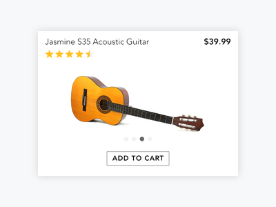 E-commerce  Day12(Created with Affinity Designer) purchase buy shop dailyui day012 flat cart ecommerce design guitar web clean