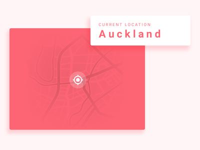 Location Tracker - Day20 ux ui design white map red tracker location day020 dailyui
