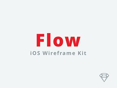 Flow - iOS Wireframe Kit sketchapp ux ui ios design e-commerce freebie free clean kit sketch wireframe