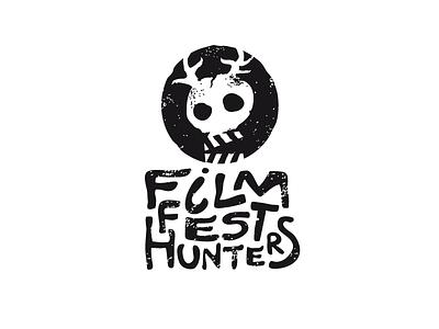 FFH film hunter art logo design logotype scull cinema