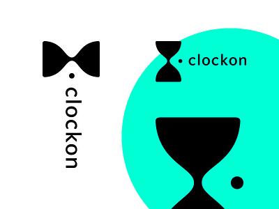 Clockon vector logodesign logotype logo hourglass bow tie classic gentleman watch