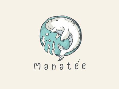 Manatee (for sale) art design logo manatee