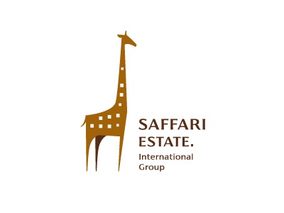 Giraffe design logo estate giraffe safari