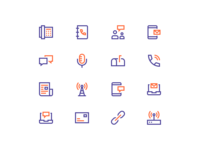 Network and Communication Icons