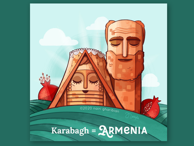 Karabagh = Armenia 🇦🇲 armenianart saturday tatikupapik illustration arts artsakhisarmenia culturalstory armeniandiaspora karabaghisarmenia armenianartist proudarmenian artsakh armenia
