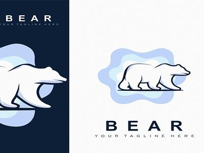 B E A R branding creative illustration abstract design vector modern brand logo bear animal