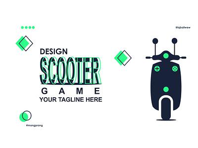 scooter game corporate vector creative design brand scooter branding modern logo transportation