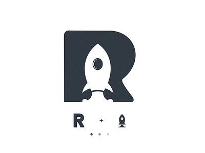 rocket business branding creative abstract design vector brand modern rocket logo