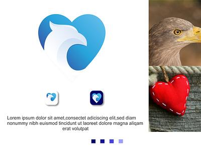 Eagle corporate brand branding bird abstract creative falcon design vector modern logo