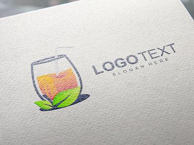Juice abstract business creative drink modern juice logo design vector branding brand logo