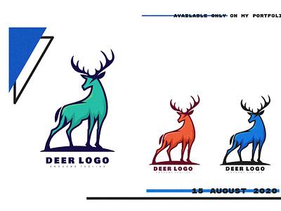 deer logo creative business vector animal abstract design branding brand modern logo
