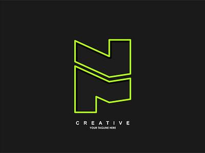 n logo media entertainment corporate business creative abstract design vector branding brand modern logo