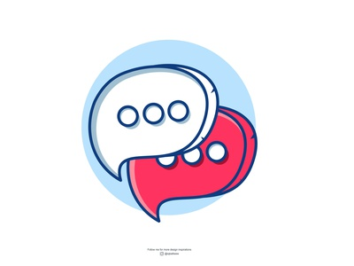 """chat or message """" whatever """" abstract character design illustration creative design branding vector brand modern message chat logo"""