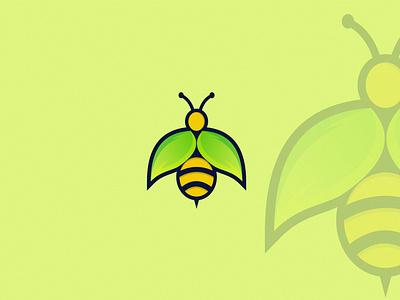 bee illustration creative abstract design brand vector branding modern logo honey animal bee