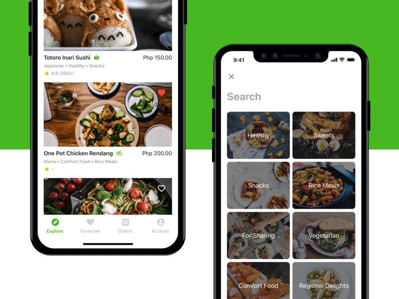 Salo App food and drink delivery culinary ux design ui mobile app design feed search food ios app
