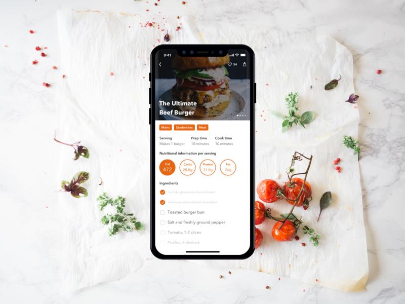Recipe App recipes ios interface cooking recipe food and drink food culinary ux ui app design app