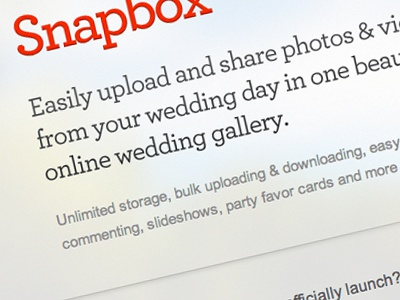 Snapbox Coming Soon Page coming soon snapbox wedding gallery