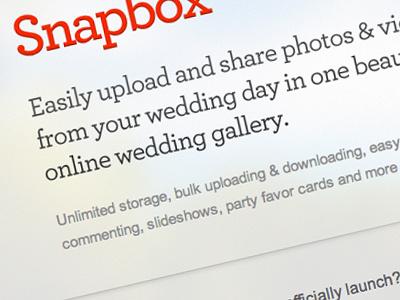 Snapbox Coming Soon Page coming soon snapbox wedding gallery