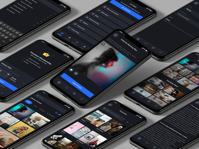 Preset App mobile app design mobile app mobile lightroom preset minimal dark ui dark mode ux design ui app design app