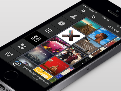 Music App music app ios iphone dark
