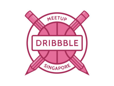 Dribbble Meetup Singapore logo dribbble