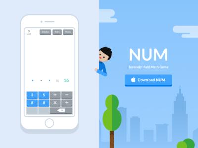 NUM Game Website illustration web number game ios