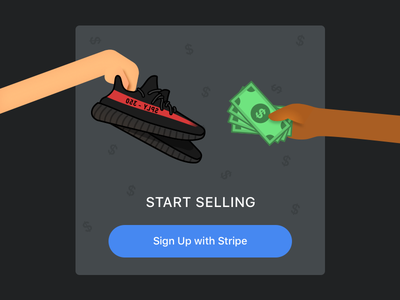 Restocks Sign Up Illustration sign up restocks ui money yeezy illustration