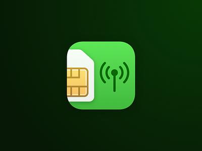 Telco Commands App Icon app icon ios green sim icon