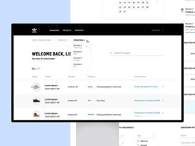 adidas YEEZY Tracking Tool ux ui blackandwhite clean simple art minimal creative visualdesign website management platform webdesign webapp tool tracking yeezy adidas