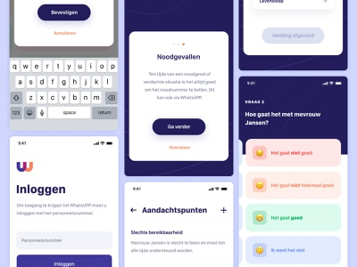 Mood Checker App clean healthcare health app health ios android ux ui mood app mood