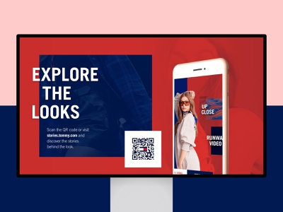 Tommy Hilfiger - Explore the looks commerical narrowcasting tommy qr code qr ux ui website landing page explore fashion tommy hilfiger